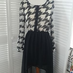NWT Alter'd State dress cut out back high low szM
